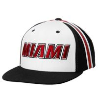 Miami Heat adidas Legacy Collection Snapback Adjustable Hat - White/Black