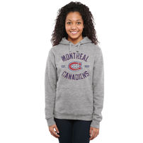 Montreal Canadiens Women's Heritage Pullover Hoodie - Ash
