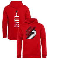 Damian Lillard Portland Trail Blazers Fanatics Branded Youth Team Backer Name & Number Pullover Hoodie – Red