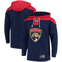 Florida Panthers Fanatics Branded Breakaway Lace Up Hoodie – Navy/Red