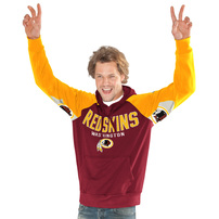 Washington Redskins Hands High Free Agent Pullover Hoodie - Burgundy/Gold
