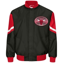 Chicago Bulls G-III Sports by Carl Banks Fastbreak Sublimated Jacket - Black/Red
