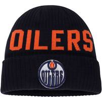 Edmonton Oilers Fanatics Branded True Classic Bold Cuffed Knit Hat - Navy