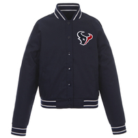 Houston Texans JH Design Women's Embroidered Logo Poly Twill Jacket – Navy