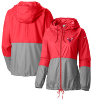 Chicago Bulls Columbia Women's Flash Forward Windbreaker Full-Zip Jacket – Red