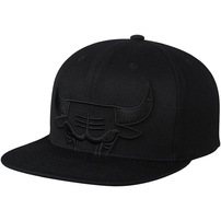 Chicago Bulls Mitchell & Ness Cropped XL Logo Snapback Adjustable Hat - Black