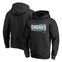 San Jose Sharks Fanatics Branded Iconic Collection On Side Stripe Pullover Hoodie - Black