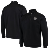 Oakland Raiders Vineyard Vines Shep Shirt Quarter-Zip Jacket – Black