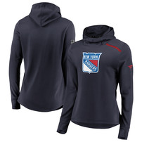 New York Rangers Fanatics Branded Women's Authentic Pro Rinkside Transitional Pullover Hoodie - Navy