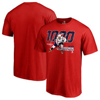 Alexander Ovechkin Washington Capitals Fanatics Branded 1,000 Points T-Shirt - Red