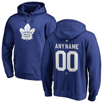 Toronto Maple Leafs Fanatics Branded Personalized Team Authentic Pullover Hoodie – Royal