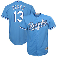 Salvador Perez Kansas City Royals Youth Player Replica Jersey – Light Blue