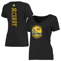 Stephen Curry Golden State Warriors Women's Stacked Classic Fit Name & Number T-Shirt - Black