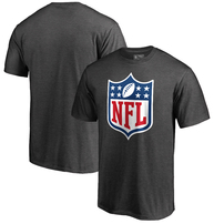 NFL Pro Line by Fanatics Branded NFL Shield Primary Logo Big and Tall T-Shirt – Heathered Charcoal
