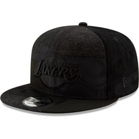 Los Angeles Lakers New Era Premium Patched 9FIFTY Adjustable Hat – Black