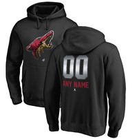 Arizona Coyotes Fanatics Branded Any Name & Number Midnight Mascot Pullover Hoodie – Black