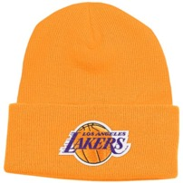 adidas Los Angeles Lakers Cuffed Knit Beanie - Gold