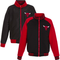 Chicago Bulls JH Design Youth Reversible Polyester Track Jacket - Black
