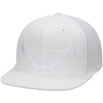 Chicago Bulls Mitchell & Ness Cropped XL Logo Snapback Adjustable Hat - White