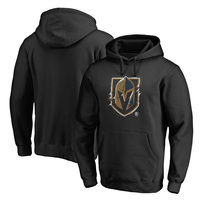 Vegas Golden Knights Fanatics Branded Splatter Team Logo Pullover Hoodie – Black