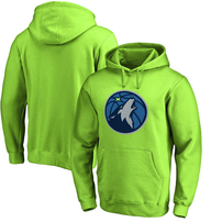 Minnesota Timberwolves Fanatics Branded Primary Logo Pullover Hoodie – Neon Green