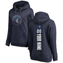 Minnesota Timberwolves Fanatics Branded Women's Custom Backer Pullover Hoodie – Navy