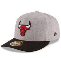 Chicago Bulls New Era Current Logo Change Up Low Profile 59FIFTY Fitted Hat - Heathered Gray/Black