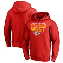 Kansas City Chiefs NFL Pro Line by Fanatics Branded 2018 AFC West Division Champions Fair Catch Pullover Hoodie - Red