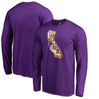 LeBron James Los Angeles Lakers Fanatics Branded Player State Long Sleeve T-Shirt – Purple