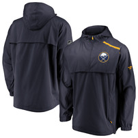 Buffalo Sabres Fanatics Branded Authentic Pro Rinkside Anorak 1/4-Zip Jacket – Navy