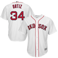 David Ortiz Majestic Youth Official Cool Base Player Jersey - White