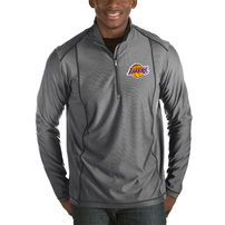Los Angeles Lakers Antigua Tempo Big & Tall Half-Zip Pullover Jacket - Charcoal