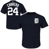 Miguel Cabrera Detroit Tigers Majestic Big & Tall Official Player T-Shirt - Navy