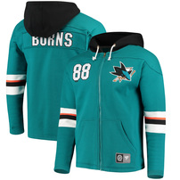 Brent Burns San Jose Sharks Fanatics Branded Breakaway Full-Zip Hoodie - Teal