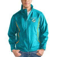 Miami Dolphins G-III Sports by Carl Banks Soft Shell Bonded Full Zip Jacket – Aqua