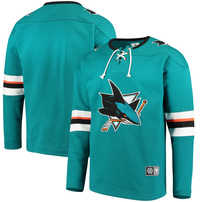 San Jose Sharks Fanatics Branded Breakaway Lace Up Pullover Sweatshirt - Teal