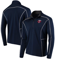 Minnesota Twins Columbia Shotgun Quarter-Zip Pullover Jacket – Navy