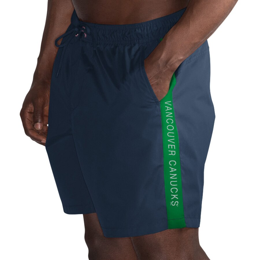 Vancouver Canucks G-III Sports by Carl Banks Volley Swim Shorts – Navy/Green
