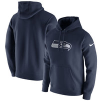 Seattle Seahawks Nike Club Fleece Pullover Hoodie - College Navy