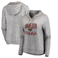 Minnesota Wild Fanatics Branded Women's Cozy Collection Steadfast Pullover Hoodie - Ash
