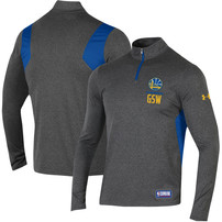 Golden State Warriors Under Armour Combine Authentic Season Tech Quarter-Zip Pullover Jacket – Heathered Charcoal