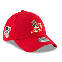 Oakland Athletics New Era 2018 Stars & Stripes 4th of July 39THIRTY Flex Hat – Red
