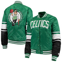 Boston Celtics Starter Women's Victory Satin Full-Snap Jacket – Kelly Green/Black