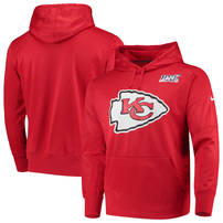 Kansas City Chiefs Nike 100th Season Primary Logo Circuit Performance Pullover Hoodie - Red