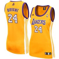 adidas Kobe Bryant Los Angeles Lakers Women's Replica Jersey - Gold