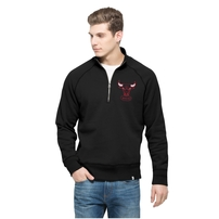 Chicago Bulls '47 Cross Check Quater-Zip Pullover Jacket - Black