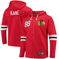 Patrick Kane Chicago Blackhawks Fanatics Branded Breakaway Full-Zip Hoodie - Red