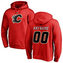 Calgary Flames Fanatics Branded Personalized Team Authentic Pullover Hoodie – Red