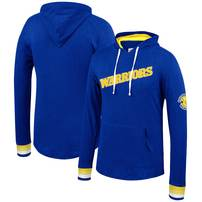 Golden State Warriors Mitchell & Ness Striped Cuff Pullover Hoodie – Royal