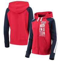 Washington Nationals G-III 4Her by Carl Banks Women's Game Changer Full-Zip Jacket – Red/Navy